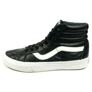 Vans Sk8 Hi High Top Leather Skate Shoes